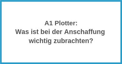 A1 Plotter